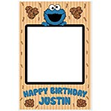 Cookie Monster Selfie Frame Photo Prop Poster