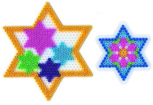 Happy Price Toys Stiftplatte Stern groß und klein , im Set mit 100 Bügelperlen bunt (29)