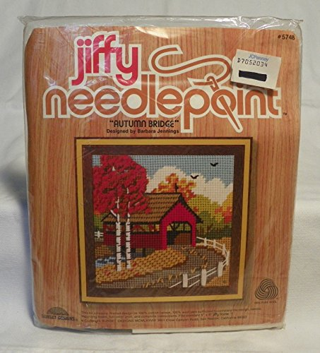 AUTUMN BRIDGE Jiffy Needlepoint Kit # 5748