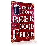 Blechschild Retro Bier Geschenk Magnet-Metall-Schild mit