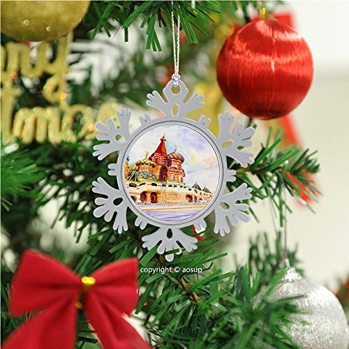 SUPNON Kremlin and Cathedral/Christmas Ornament 2020 Xmas Tree Topper Hanging Decoration Merry Christmas Elk Snowflake Gifts for Home Festival Fantastic Romantic Indoor Decor №SW174506
