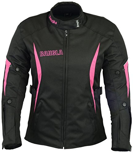 B-101 Bangla Sportliche Damen Motorrad Jacke Textil Schwarz-pink XL