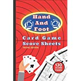 Hand and Foot Card Game Score Sheets (Travel Edition): Score Pad Note Book With 130 Non Perforated Pages For Scorekeeping (Pocket & Bag Edition)