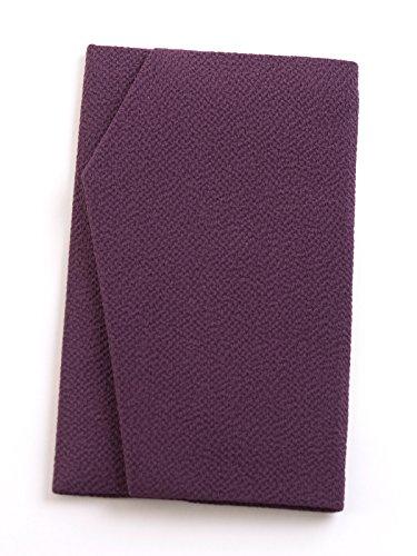 正絹ちりめんふくさ 桐箱入 慶弔両用金封袱紗 結婚式 冠婚葬祭 男性用 女性用 (紫) シルク