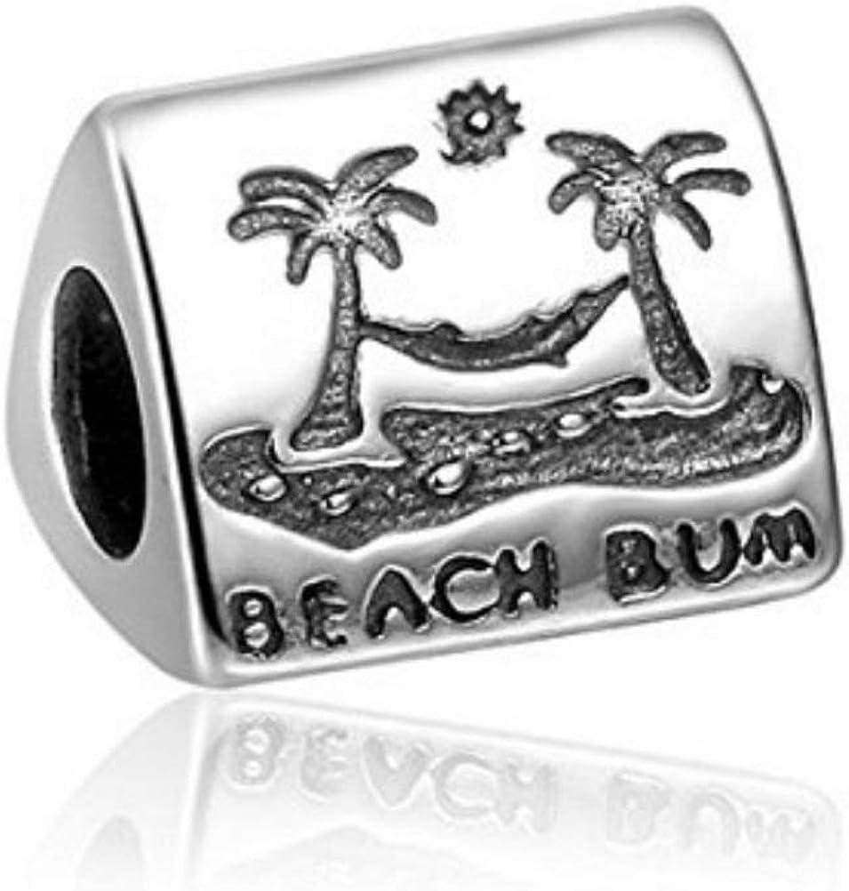 Beach Bum 925 Sterling Silver Charm Brand San Francisco Large-scale sale Mall Bead Cha European Fits