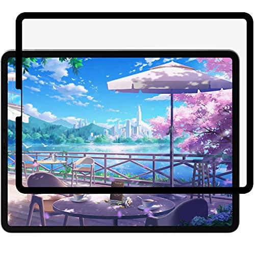 【Amazon限定ブランド】 ペーパーライク フィルム 着脱式 iPad Pro 12.9 (2021 第5世代 / 2020 第4世代 / 2018 第3世代)用 保護フィルム アンチグレア 反射低減