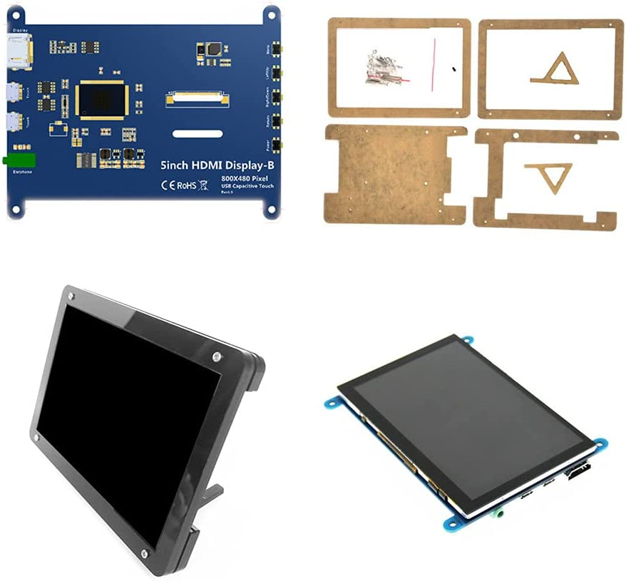 5 inch HDMI Display Case LCD Portland Mall Capacitive Touch HD Re Dedication Screen Stand