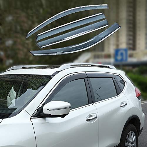 Xtrdye Auto Windabweiser Kompatibel Mit Nissan Qashqai (2016-2019), Acrylglas Tür Seitenfenster Sonnenblende Regen Und Schnee Sonnenschutz (4 Stück)