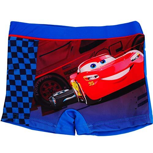 alles-meine.de GmbH Badehose / Badeshorts - Disney Cars - Auto - Lightning McQueen - Größe 6 bis 7 Jahre - Gr. 122 bis 128 - für Jungen Kinder Badepants - Boxershorts Shorts mit ..