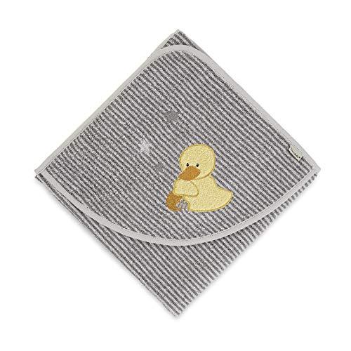 Serviette de Bain Sterntaler Edda le Canard, Âge : À Partir de 0 Mois, 80 x 80 cm, Gris