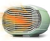 Tailiqi - Calefactor de cerámica con 2 niveles de calor (400 W/800 W), bajo consumo, calefacción silenciosa con protección contra sobrecalentamiento, para baño, oficina, salón (verde)