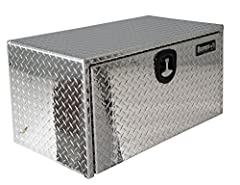 Diamond Tread Aluminum Underbody Truck Box: Protect your tools and equipment with our corrosion-resistant truck box. Made with .100 inch thick diamond tread aluminum. Good for extreme weather conditions Built Tough: A locking, die cast, compression l...