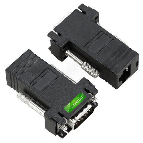 SODIAL(TM) 2 adattatore cavo prolunga VGA a CAT5/CAT6/RJ45