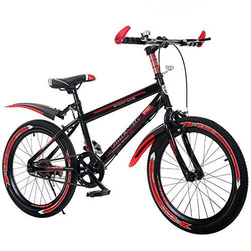 Winkey@ Neues Kinderfahrrad 20 Zoll 22 Zoll Mountainbike 6-7-8-9-10 Jahre alte Kinderwagen Jungen Schüler (Rot)