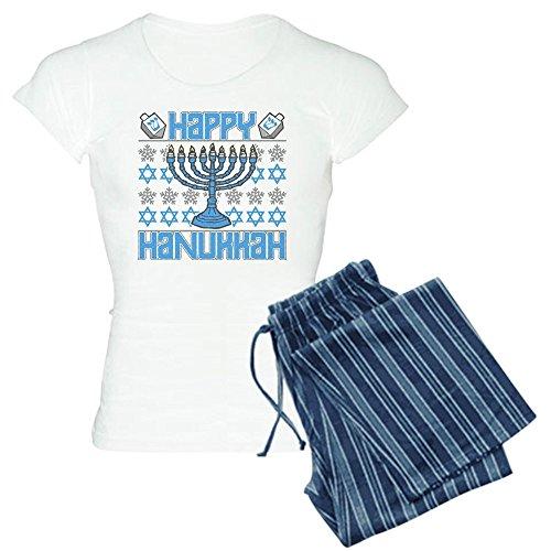 CafePress Happy Hanukkah Women's Light Pajamas Womens Novelty Cotton Pajama Set, Comfortable PJ Sleepwear