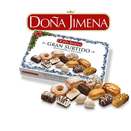 Doña Jimena - Gran Surtido de Dulces Tradicionales, Especialidades y Chocolates Mini Pralinés Sabores Variados, Típico Dulce Navideño Receta Artesanal, Dulces Artesanos, Almendra, 1000 Gramoss