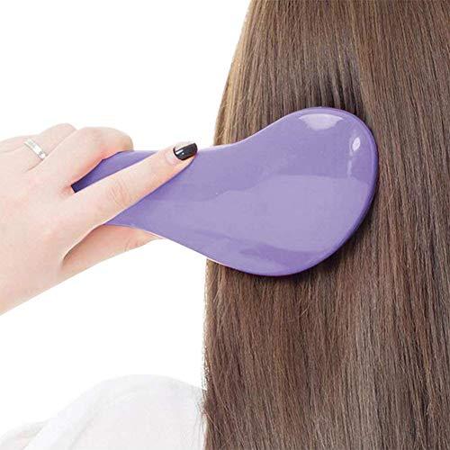 kentop Brosse Cheveux Massage Brosse Peigne Antistatique Massage du Cuir Chevelu Peigne Massage Cheveux Kit De Brosse Coiffeur Coiffure Peigne de barbier 1PCS (Violet)