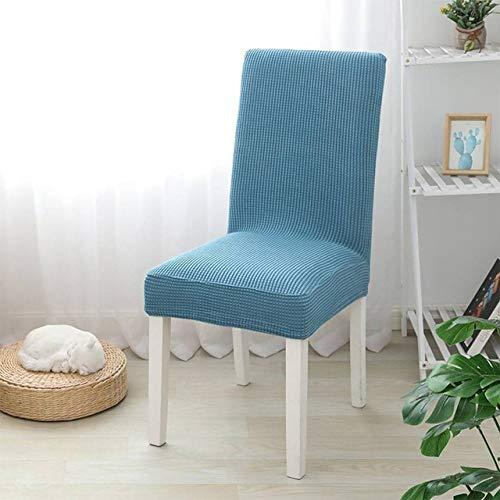 YIEBAI 1 STÜCK, Plain Dining Chair Bezug, Flanell Stoff Schonbezug, für Stühle Küche Esszimmer Stuhlhussen, Elastic Stretch,West Lake Blue,1pc