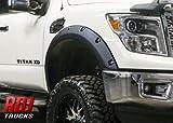 RDJ Trucks PRO-Offroad Bolt-On Style Fender Flares - Fits Nissan Titan XD 2016-2020 - Set of 4 - Aggressive Textured Black