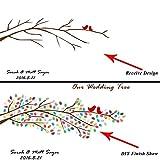 1Set personalizado huellas tree libro de visitas lienzo/Huella digital de huellas dactilares pintura boda árbol pintura + 2Almohadilla de tinta, 40X60 for 100 Guest, XFJ018