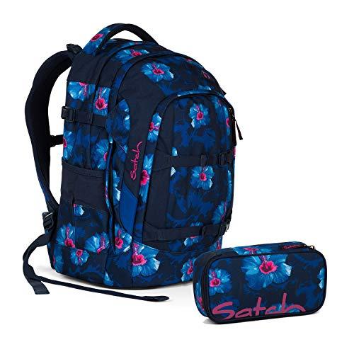 Satch Pack Waikiki Blue Schulrucksack Set 2tlg.