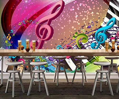 3D Tapete Klavier Gesang Trainingsmusik Fototapete 3D Effekt Wandbild Tapeten Wohnzimmer Hintergrundbilder