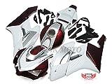 VITCIK (Kit de Carenado para CBR1000RR 2004 2005 CBR1000 RR 04 05) Accesorios de repuesto para bastidor y carrocería con(Blanco & Rojo) A092