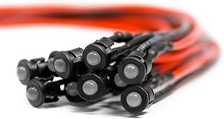 20 unidades cableadas pre Wired diodos LED blanco fria lente clara 24v 1.8mm