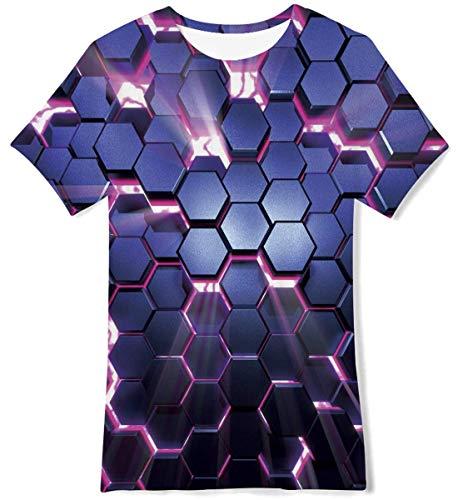 Idgreatim Garçons Garçons T-shirts Galaxy à manches courtes pour garçons pour jeunes...