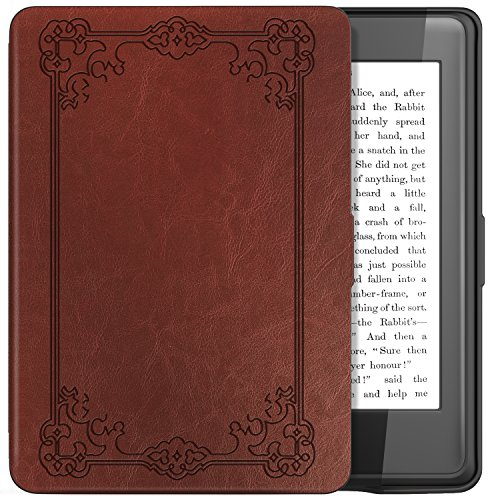 TiMOVO Kindle Paperwhite Funda - Delgada Cubierta Case Ligera Protectora con Función de Auto Wake/Sleep para Kindle Paperwhite, No es compatible para Paperwhite 10th generation 2018, Tarea Negra