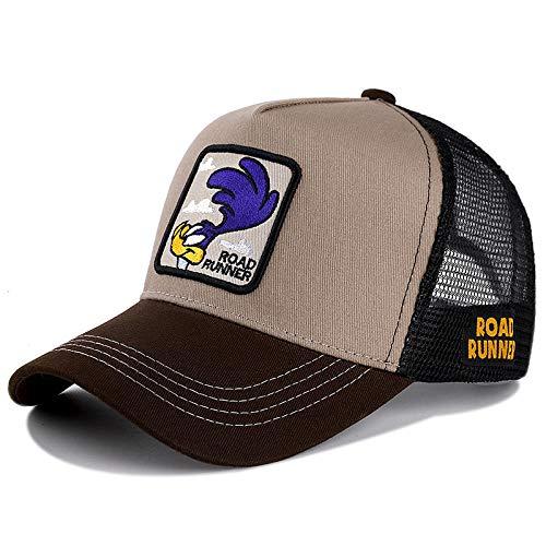 YDXC Gorra de béisbol de algodón Cap para Hombres con Sombrero Camionero Estilo Hip-Hop de Dibujos Animados para papá se aplican a la Pesca de Running etc-Roud_Runner_Khaki