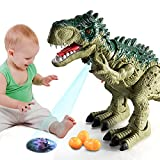 TEMI Electric Walking Dinosaur Toy with Sounds, Projection, Laying Egg  Dinosaur Gift for Boys and Girls 3 4 5 6 7 Years