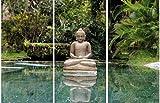 1art1 Buddhismus - Buddha In Bali, 3-Teilig Bilder