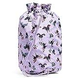 Vera Bradley Women's Recycled Lighten Up Cinch Laundry Bag Décor, Lavender Butterflies, One Size