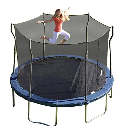 Kinetic Trampolines K12-6BE Trampoline with Enclosure, Blue,...