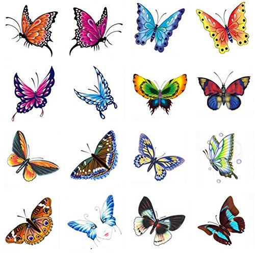 Stickers hommes et des tatouages temporaires Femmes Waterproof Papillon-A386