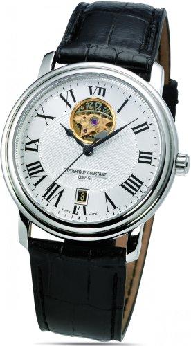 FREDERIQUE CONSTANT Unisex Datum Norm Automatik Uhr mit Leder Armband FC-315M4P6