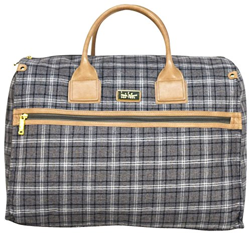 Nicole Miller New York Designer Travel Duffel Handbag Collection - Oversized 22 Inch Carry On for Women - Weekender Overnight Shoulder Tote Box Bag (Rosalie Silver)