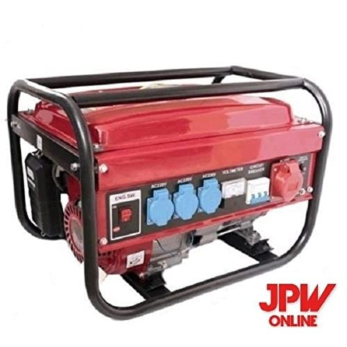Generador EK 5500W monofasico trifasico 4 tiempos gasolina 15L (Rojo)