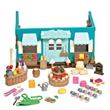 Li'l Woodzeez Shop Playset – Honeysuckle Hollow General Store – 90pc Toy Set with Play Food and Shopping Accessories – Toys for Kids Aged 3 and Up