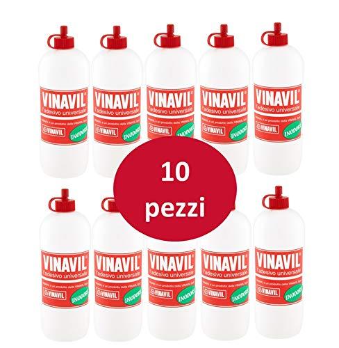 Vinavil Universale Flacone 250gr-10 Pezzi Colla Originale, Multicolore, Taglia Unica
