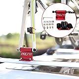 iBaste Dachträger Fahrradträger Dachgepäckträger Fahrradaufbewahrung Tragbar Alu-Dachträger universal mit Saugnapf für Mountain Bike Rennrad, Schnellmontage, Vakuumadsorption, Steif...
