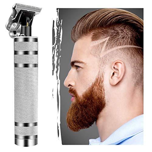 Directtyteam 2020 Nouvelle version Sctualized Tondeuse à cheveux pour homme électrique Pro T-Outliner Tondeuse longue durée 120 minutes (argent)
