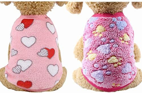YIKEYO Set of 2 Puppy Clothes for Small Dogs Boy Girl Winter Warm Cute Sweaters for Chihuahua product image