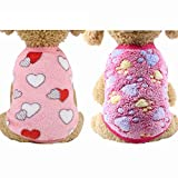 YIKEYO Set of 2 Puppy Clothes for Small Dogs Boy Girl...