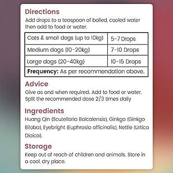 GOUTTES ANTI DÉMANGEAISONS CHIENS ET CHATS - Produit pour Chien et Chat Contre les Démangeaisons, Soin de la Peau Irritée des chats et chiens, Lotion anti Démangeaisons et Anti Irritation - 50 ml