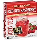 Bigelow Red Raspberry Iced Herbal Tea 8 Count Box (Pack of 6), Caffeine Free...