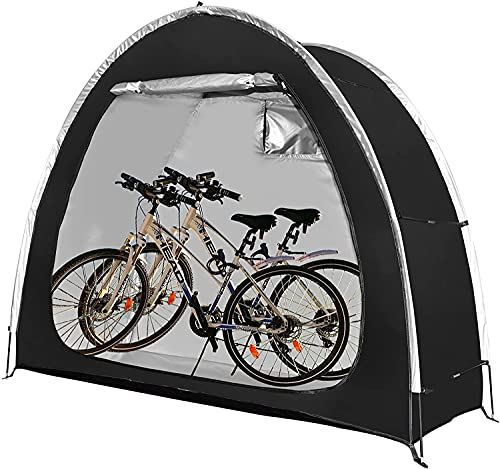 Bike Tent Foldable Bike Tidy Shed Storage Waterproof Porable Bicycle Storage Cover Shelter with Window for Outdoor,Garden,Camping and Hiking