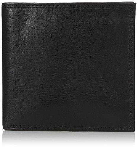 Buxton Men's Emblem-leather Cardex Wallet, black, One Size