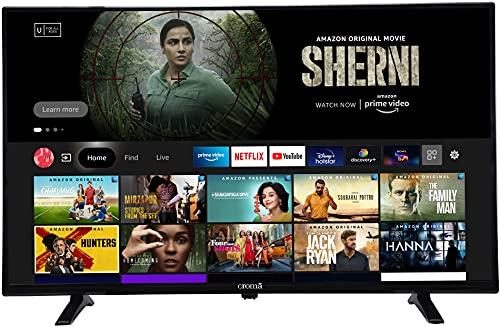 Croma 80 cm (32 inches) Fire TV HD Ready Smart LED TV CREL7364 (Black) (2021 Model)